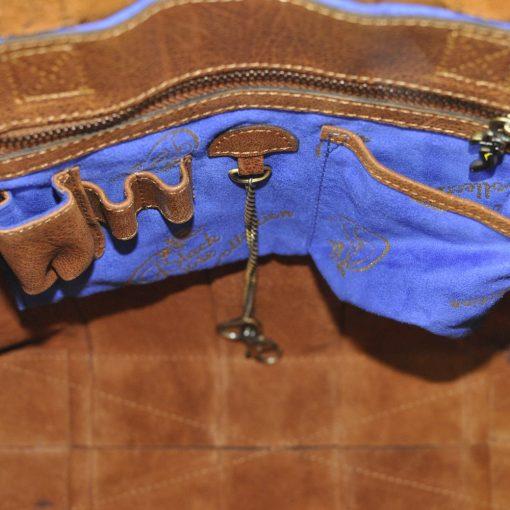 luxury leather bag Halle pleated