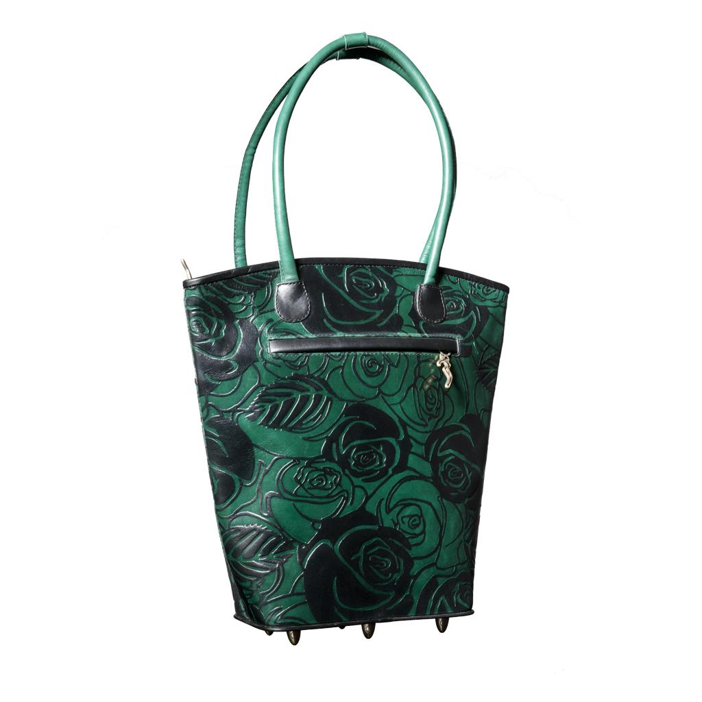 luxury leather bag Vivaldi Green