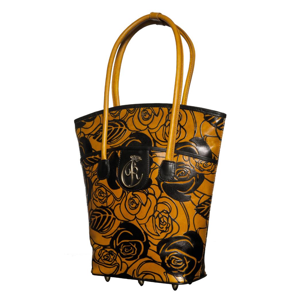luxury leather bag Vivaldi Front View