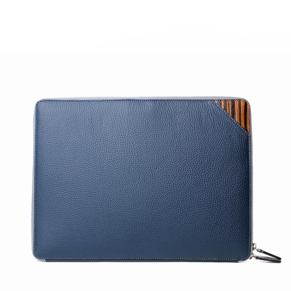 luxury mens portfolio case blue alcina