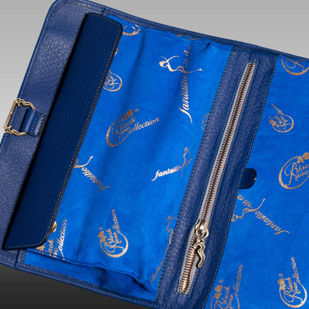luxury leather purse brahms inside close up