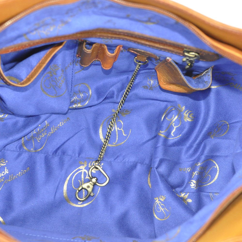 Luxury Leather Hand Painted Handbag pinkerton bronze inside