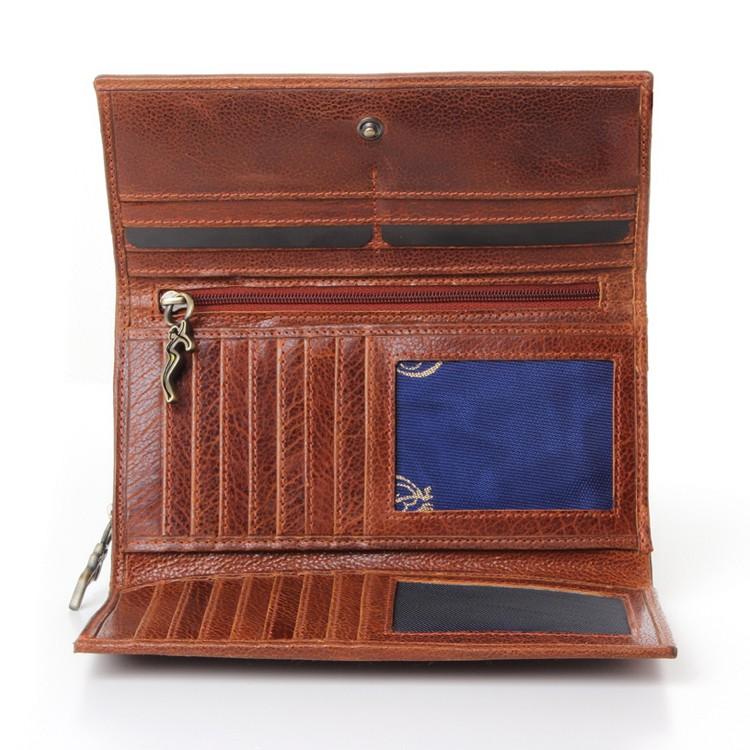 luxury leather purse inside