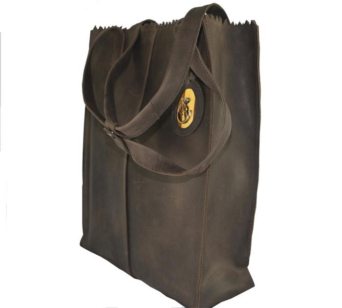 luxury leather bag Halle Side