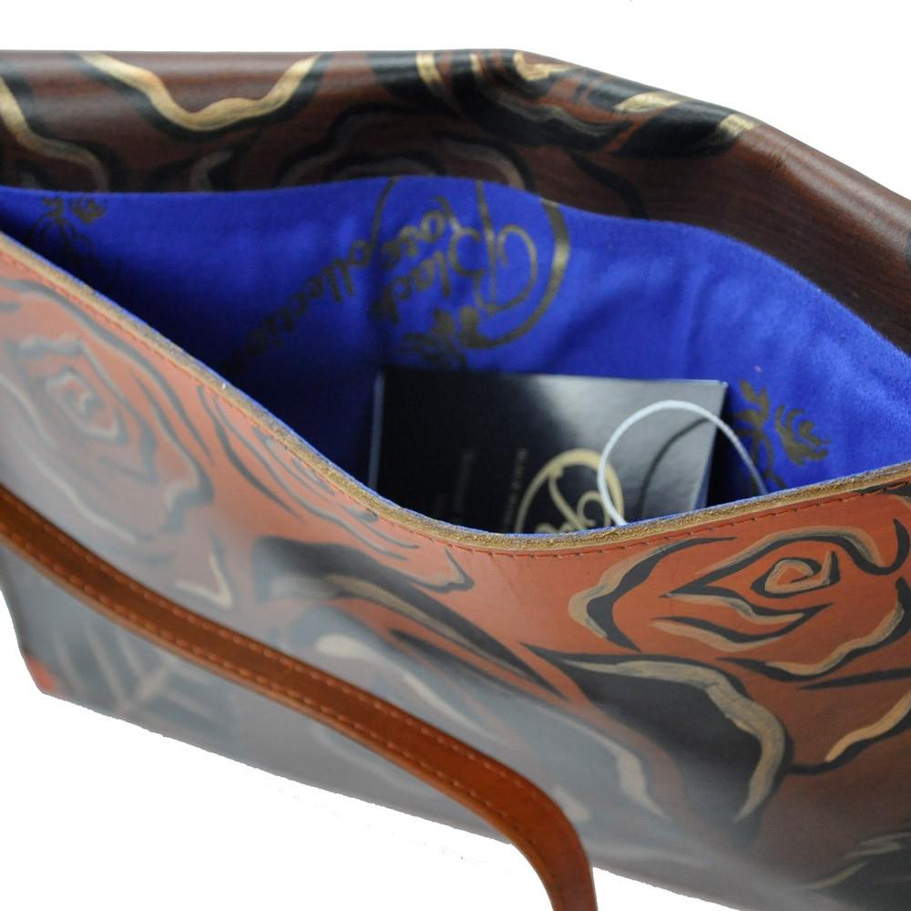 luxury iPad carrier bronze inside