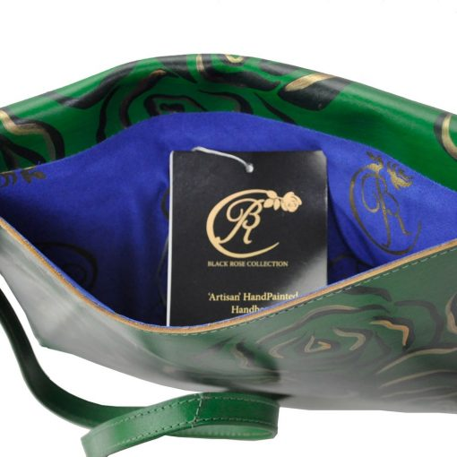 luxury iPad carrier green inside