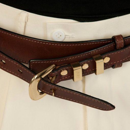 luxury leather belts jasper close up