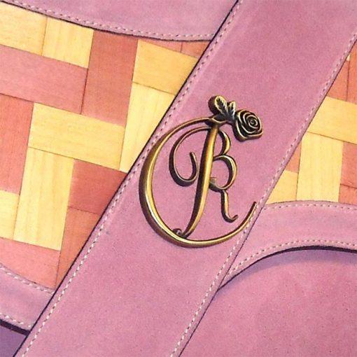 luxury leather bag Liszt BRC Logo