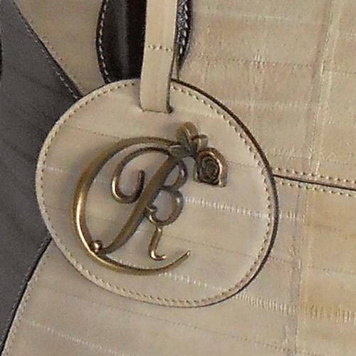 luxury leather bag Mahler BRC Logo