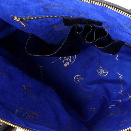 luxury leather bag mahler inside