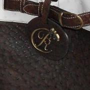 luxury leather bag Mozart BRC Logo