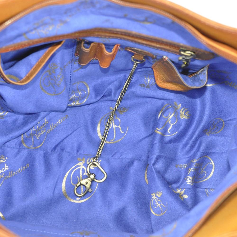 Luxury Leather Hand Painted Handbag pinkerton inside
