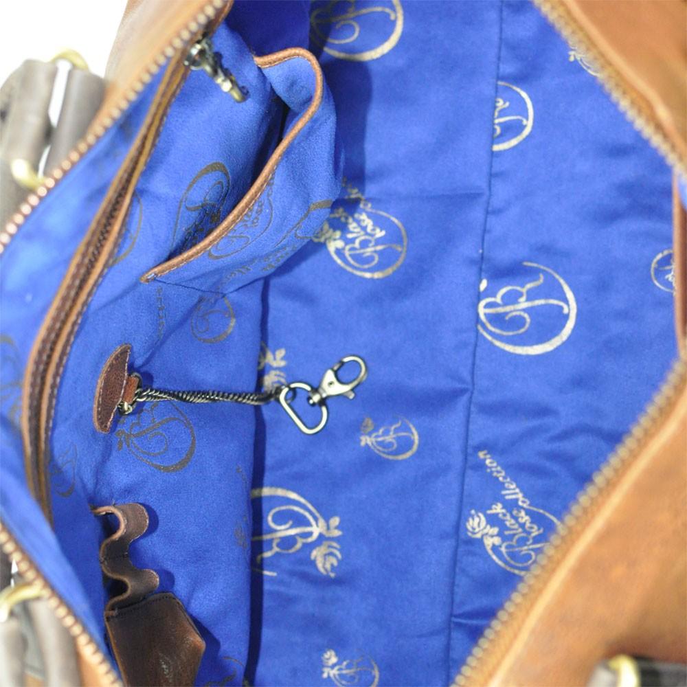 luxury leather bag polenc inside
