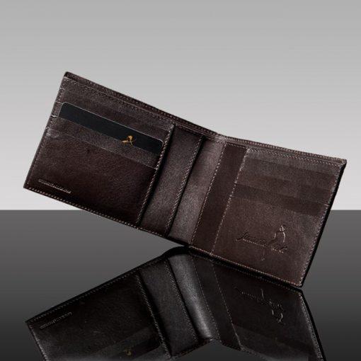 luxury leather wallet rodrigo inside