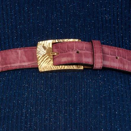 luxury leather belts ruby
