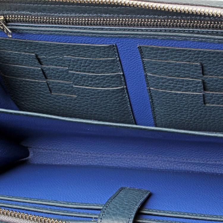 luxury mens portfolio case blue rusalka inside
