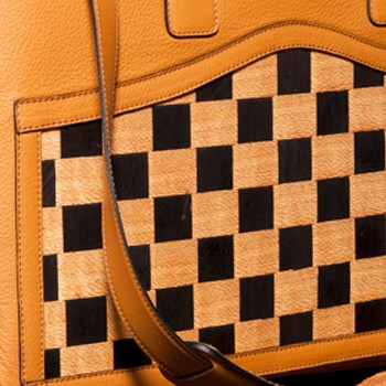 luxury leather bag sibelius close up