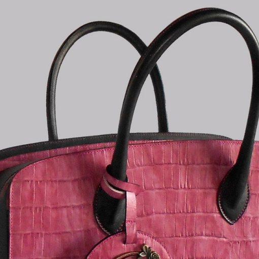 luxury leather bag Strauss handles