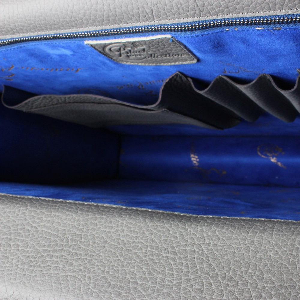 luxury leather bag Tosca inside