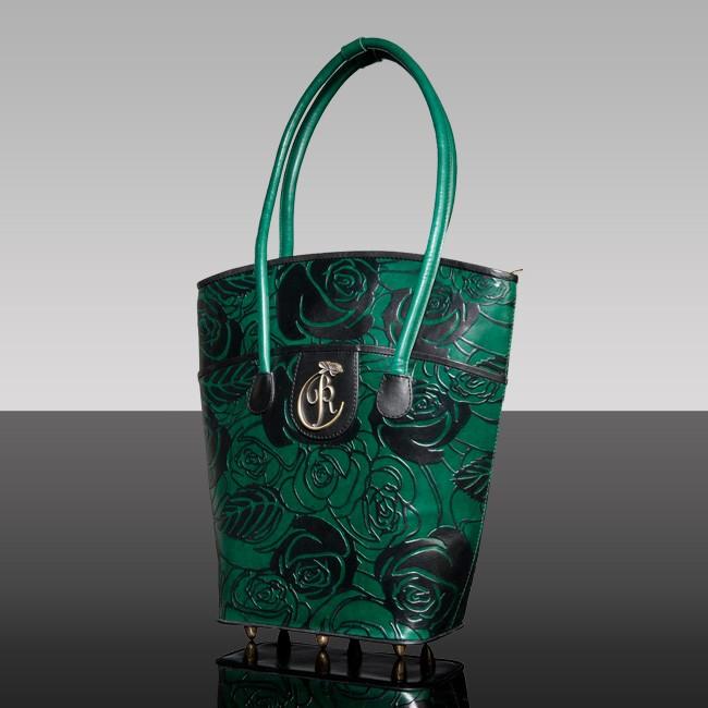 luxury leather bag Vivaldi Spring Green
