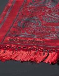 Vivaldi Summer Luxury Scarf Red Close Up
