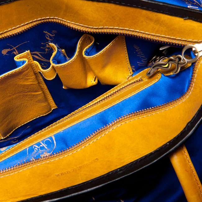luxury leather bag Vivaldi Blue