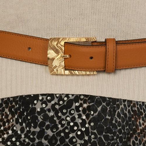 luxury leather belts zircon close up