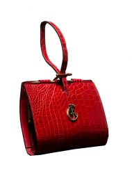 luxury leather bag puccini red