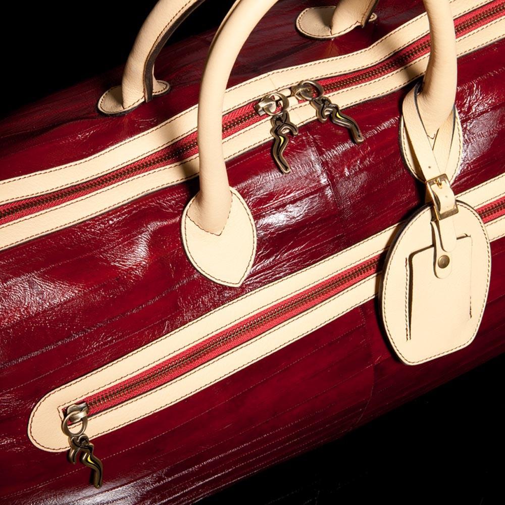 Luxury Leather Bag Verdi Overhead